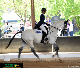 Jess Sommerfield was kept busy with two rides in the CNC One Star at the NEGS ODE in Armidale, Jess is pictured here with her grey warmblood gelding, Lake View Albion.