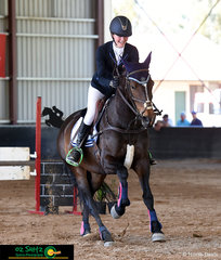 You couldn't wipe the smile of Katie Hancock's face after she completed her show jumping round in the EvA95 with her horse, Any Thyme at the NEGS One Day Event in Armidale.
