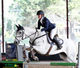 Anna Jarvis and Cullendore Trigger compete in the EvA105 at the annual NEGS One Day Event in Armidale, NSW.