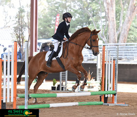 12 year old Charlotte Overton and Rangatera Josh competed together in the EvA45 class at the NEGS One Day Event in Armidale.