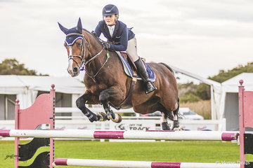 Brooke Langbecker and stallion Beijing LS La Silla in event 1 the 120cm coming in in 19th position with a score of 76.00.