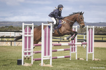 Molly Lawrence and Cracker Jack Candy from the Mornington Peninsula's Toorak College in the Interschool 95cm.