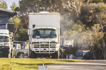 Billy Raymont may have put in a red hot round in the Speed 120cm - Table C, but while riding things were really hotting up back at his truck. Rumour has it Scott McNaught was seen heading towards Billy's truck armed with a fire extinguisher! It turned out roast pork in the Webber coping a blast. We're told the crackling was the best ever!