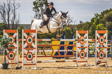 Jamie Preistly and Courage during the jump off in the Mini Prix coming home 3rd.