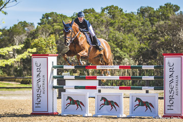 Brook Langbecker and her stallion Quintago 1, a Quidam De Revel horse, working towards their second place in the 2018 Horseware Boneo Cup.