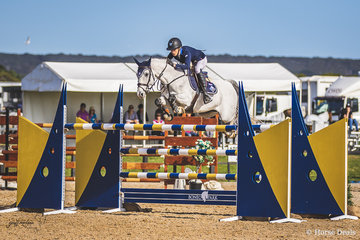 Olivia Hamood and Carado GHP by Caretino out of a Corrado I mare showed the field a clean pair of heels to take out the 2018 Horseware Boneo Cup.