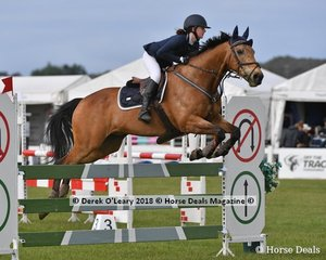 """Holly Stott representing NSW rode """"Yandoo Chat"""" to place 6th in the Australian Childrens Championship"""