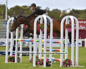 "Jayden Hanley representing Victoria placed 3rd in the Australian Children's Championship riding ""Vertigo"""