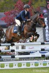 "Kayla Hogg representing NSW rode ""Alcheringa Tradition"" in the Australian Children's Championship Final"