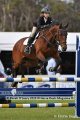 """Hudson Craig rode """"Adeline Des Hayettes"""" representing Victoria in the Australian Childrens Championship, placing 9th in the final."""