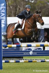 "Second Place in the Australian Childrens Championship went to Victorian rider Hayden Parker riding ""Fat Boy Slim"""