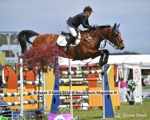 "Sue Coman rode ""Lizetta"" in the Australian Future Stars Championship"