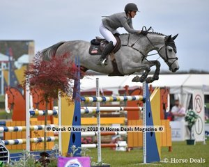 """Maddison Stephen representing WA rode """"Benson's Femme Fatale"""" to place 2nd in the Australian Future Stars Championship"""