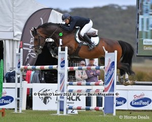 """Alison Rowland representing NSW in the Future Stars Final, riding """"Casting"""" placing 8th"""