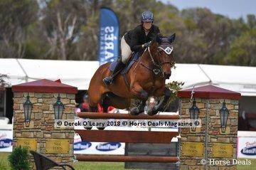 "Melissa Froesch representing Victoria placed 3rd in the Australian Future Stars Championship riding ""Glenara Lady Bollinger"""