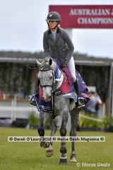 "Australian Future Stars Champion, Katie Laurie from New Zealand riding ""Mccaw MVNZ"""