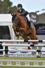 .Maleah Lang Mcmahon from QLD riding K.S Sovereigns Cadel placed 4th in the Australian Junior Championship