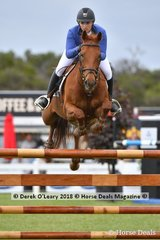 """Victoria Cureton from NSW rode """"Double The Bank"""" in the Australian Junior Championship"""
