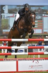 "Isabella Evans from NSW riding ""Joker"" in the Australian Young Rider Championship"