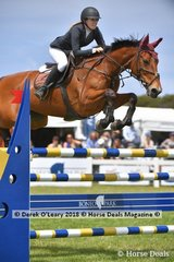 """Jessica Tripp from NSW riding """"Diamond B Verona"""" placed 5th in the Australian Young Rider Championship"""