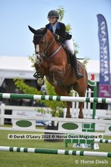 "Isobel Guinness from NSW rode ""Oaks Donatello"" to place 9th in the Australian Young Rider Championship"