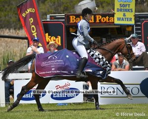 Australian Overall Young Rider Champion fro 2018, Erin Buswell from Queensland riding Quero Quero