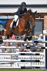 "Winner of the Australian Senior Championship, Amber Fuller from NSW riding ""CP Arentino"""