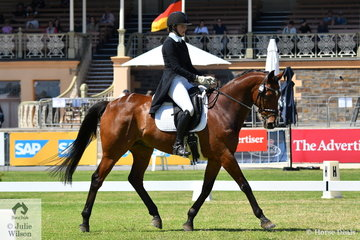 South Australian Young Rider, Steph Hann  holds 18th place after the CCI 2* dressage phase riding her Thoroughbred ,'True Celebre' by Peintre Celebre.