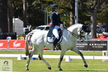 Victorian rider, Claire McDermott rode her Daley K gelding, 'Klydoscope' to hold fourth place with 31.80 after the dressage phase of the Horseland CCI2* dressage phase.