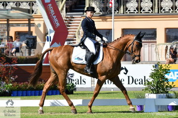 Successful Queensland rider, Natalie Siiankoski is pictured aboard her Thoroughbred, 'Royal Talisman' by Benicio during the dressage phase of the Horseland CCI2*.