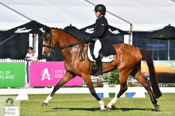 Victorian rider, Callum Buczak is pictured aboard his, 'Matavia Cheval' during the dressage phase of the RM Williams CIC 3 *.