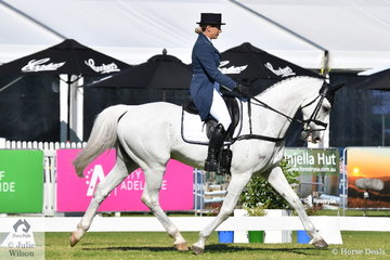 Victorian rider, Chelsea Priestley is pictured aboard  Isabel O'Loughlin's Purioso gelding, 'Skansen Purist' during the dressage phase of the RM Williams CIC 3 *