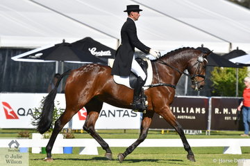 Matthew Gaske from Queensland rode Michael and Carol Gaske's, Royal Hit gelding, 'Thymes Too' to hold tenth place after the dressage phase of the RM Williams CIC 3 *.