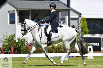 Well performed South Ausatralian rider, Jamie Stichel rode her , 'Image Blue Ice' by Kirby Park Irish Jordan to hold eighth place after the dressage phase of the RM Williams CIC 3 *.