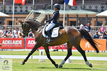 Emma Bishop has successfully made her way through the grades with her talented, 'CP Issey Miyake' by Staccato out of a Copernicus mare to take second place on 31.50 after the dressage phase of the Mitsubishi CCI4*, their first Four Star event..