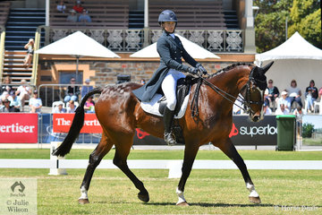 Katie Taliana from NSW produced the dressage round of the day riding her imported British Sport Horse, 'Trevalgar II' by the successful Fleetwater Opposition, to lead the way in to the cross country tomorrow, with the winning Mitsubishi CCI4*  dressage score of 31.00
