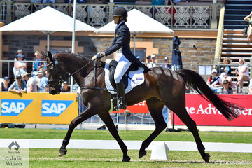 At just 21 years old, Gemma Tinney is making her CCI 4 * debut. She is pictured riding John and Jane Pittards' Donnablitz mare, 'Annapurna' in the dressage phase..