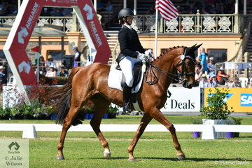 2016 Adelaide Four Star winners, Hazel Shannon and 'Willinga Park Clifford' are well placed in fifth position on 33.90 after the dressage phase of the Mitsubishi CCI4*.
