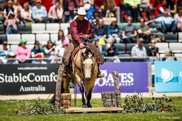 Danny Kopa and 'Nics Kissmequick' won the Open section of the Australian Ranch Horse Invitational