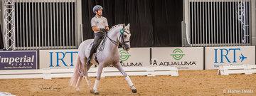 Pedro Torres on board Heather Curries' Stallion 'Istan De Azuel' in his Dressage Masterclass