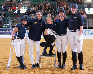 Our Para Dressage Presentation Team from tonights display in the Aqualuma Grand Pavillionparalypians