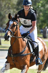 NSW rider, Jessica Rae is pictured aboard her, 'Fifth Avenue' during their Horseland CCi2* cross country run.
