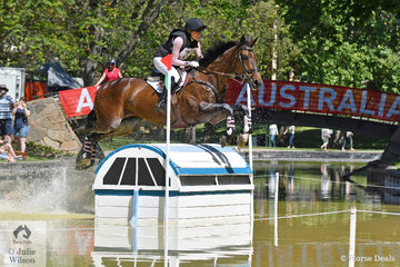 Young Rider Hannah Klep from NSW jumped a good  Horseland CCI 2* cross country round riding her Encosta De Lago gelding,  'Reprieve' to hold 13th place heading in to the final jumping phase tomorrow.