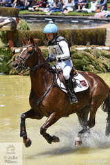 Walking on water. Successful NSW eventing rider, Emma Mason posted a super round riding her own and David Wright's AEA Metallic mare, 'Aramatai Fox'.They hold second place heading in to the final  Horseland CCI 2* jumping phase tomorrow.