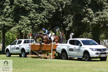 New Zealand combination, Amanda Pottinger and 'Just Kidding' added just 12.4  Mitsubishi CCI4* time penalties to lead the field in to the final jumping phase tomorrow with 47.2 penalties.