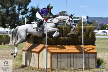 WA rider, Lauren Browne produced a copybook trip through the influential and difficult 9abc on the  Mitsubishi CCI4* course riding her talented and elegant Thoroughbred, 'Skys Da Limit' by Hurricane Sky. They hold seventh place heading in to the final jumping phase tomorrow.