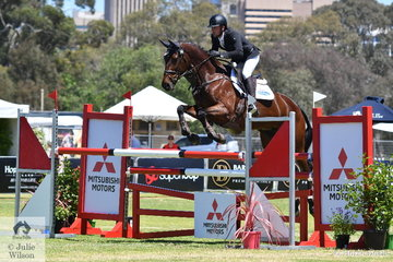 Queensland rider, Matthew Gaske rode his Royal Hit gelding, , 'Thymes Too' to take seventh place in the RM Williams CIC 3*.