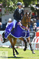 Sophia Landy from Victoria won the Young Rider Championship run in conjunction with the Horseland CCI 2* class riding her Thoroughbred, 'Humble Glory',