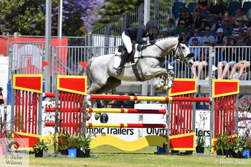 Lauren Browne from WA rode her wonderful , thoroughbred, 'Sky's Da Limit' by Hurricane Sky to take eighth place in their first Mitsubishi CCI Four Star event.