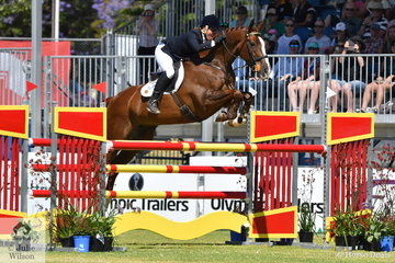 Regular Adelaide visitor and Beijing Team Silver Medallist, Sonja Johnson rode her talented stallion, 'Misty Isle Valentino' to take third place in the Mitsubishi CCI Four Star.